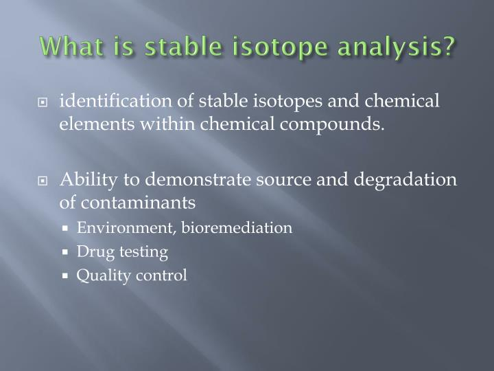 What is stable isotope analysis