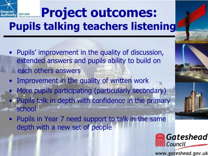 Project outcomes: