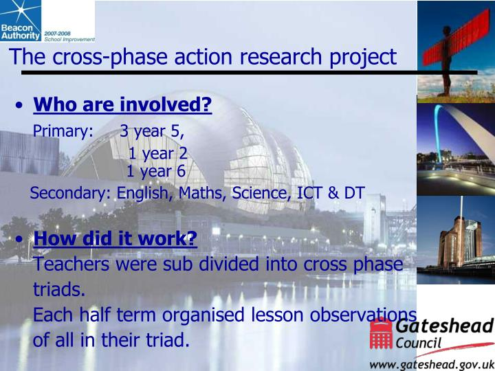 The cross-phase action research project
