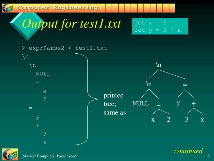Output for test1.txt