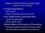 alabama nsaids patient safety study health literacy findings