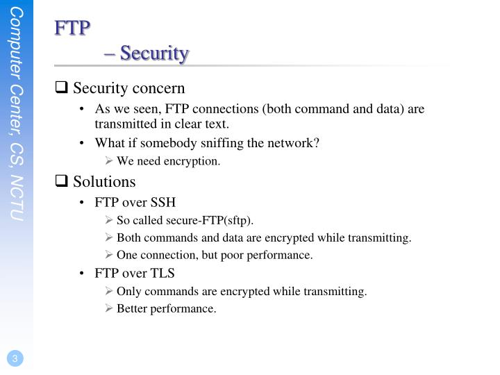 Ftp security