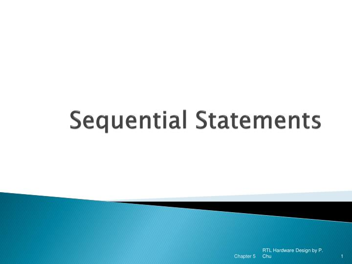 sequential statements n.