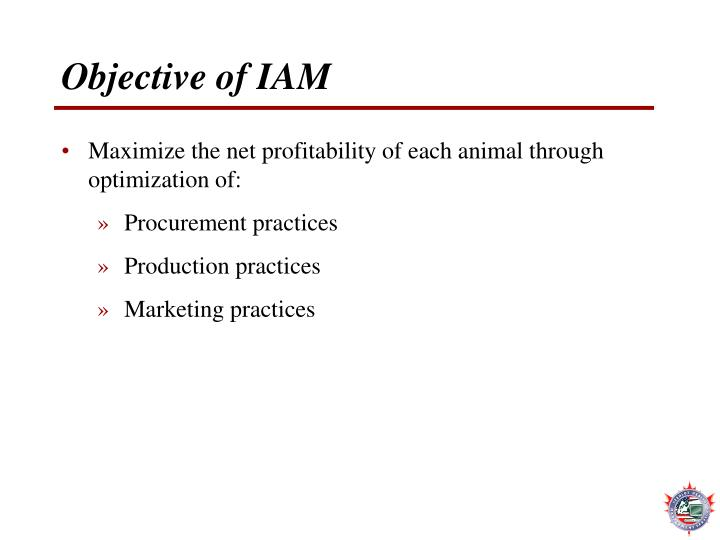 Objective of IAM