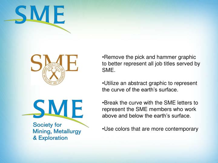 Remove the pick and hammer graphic to better represent all job titles served by SME.