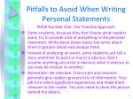 pitfalls to avoid when writing personal statements