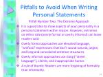 pitfalls to avoid when writing personal statements1
