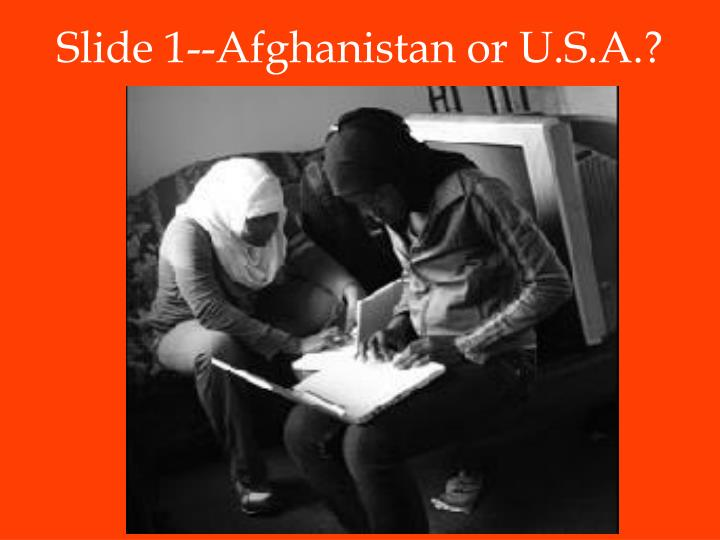 Slide 1 afghanistan or u s a