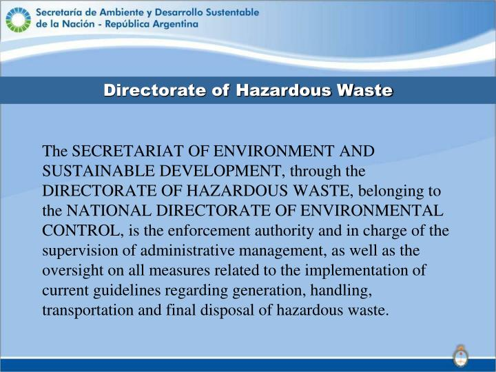 Directorate of Hazardous Waste