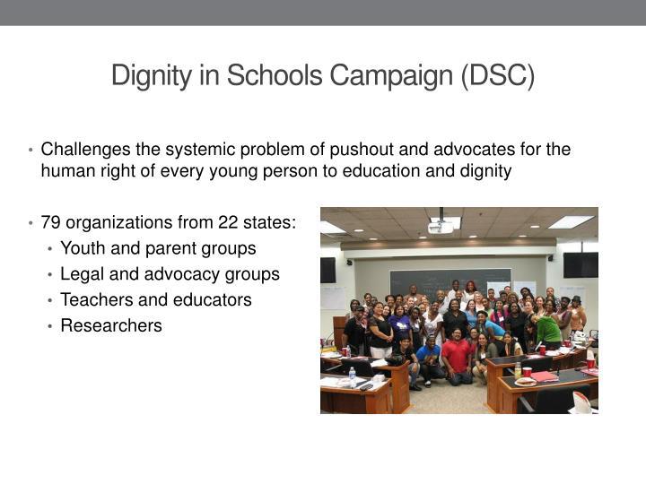 Dignity in schools campaign dsc