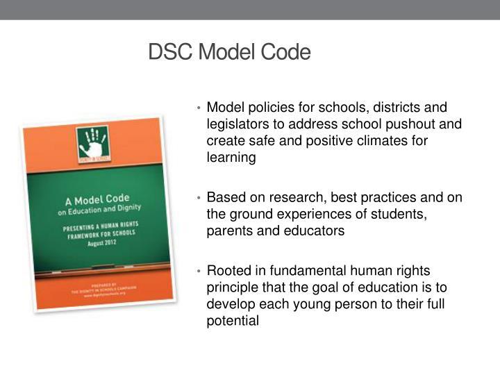 Dsc model code