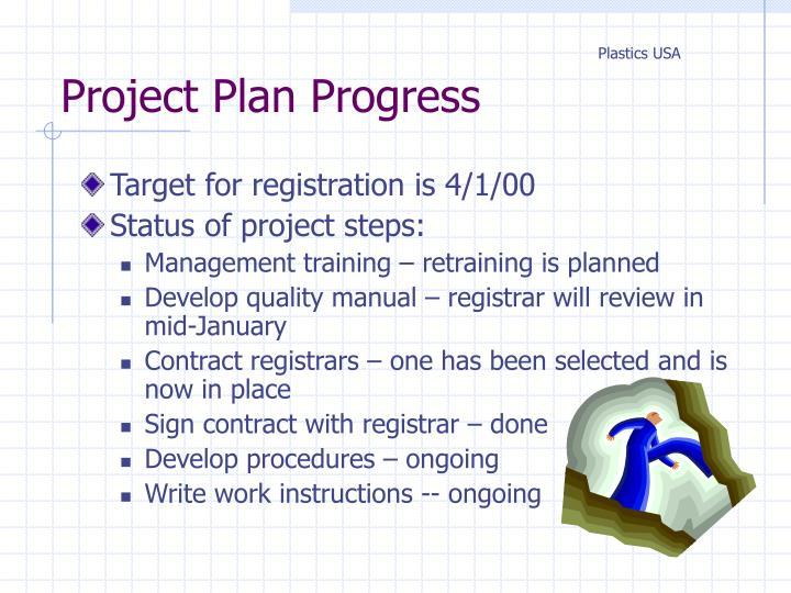 Project Plan Progress