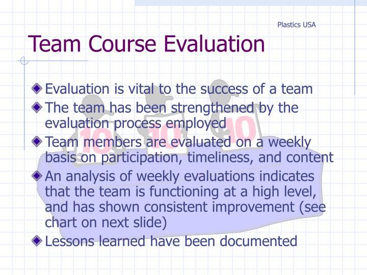 Team Course Evaluation