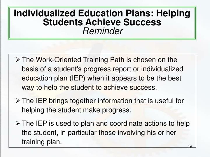 Individualized Education Plans: Helping Students Achieve Success
