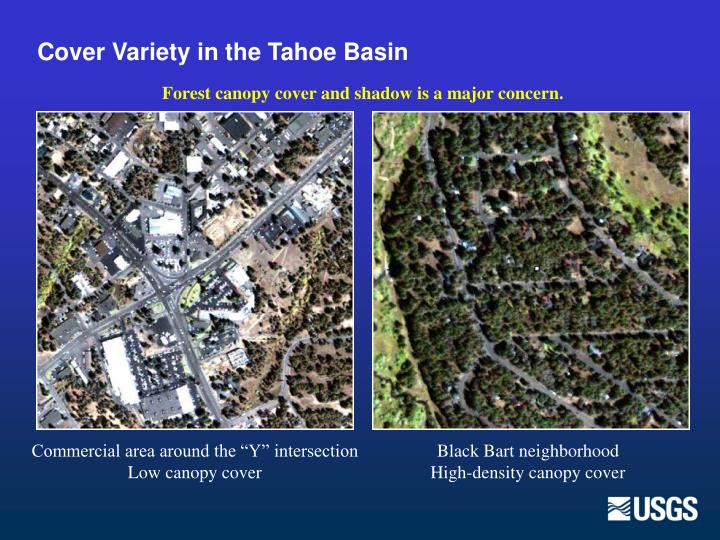 Cover Variety in the Tahoe Basin