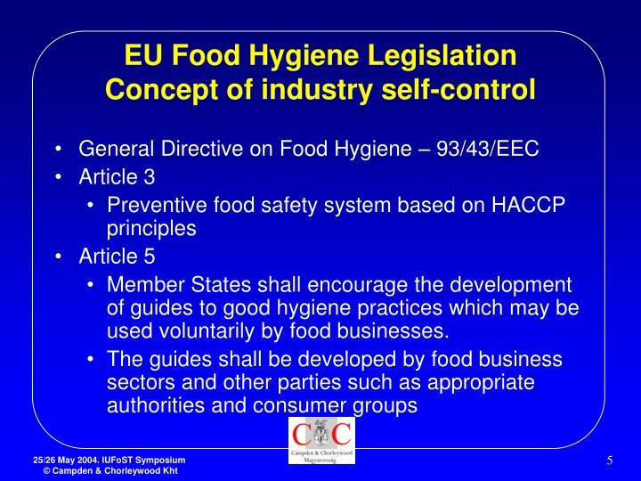 hygiene legislation