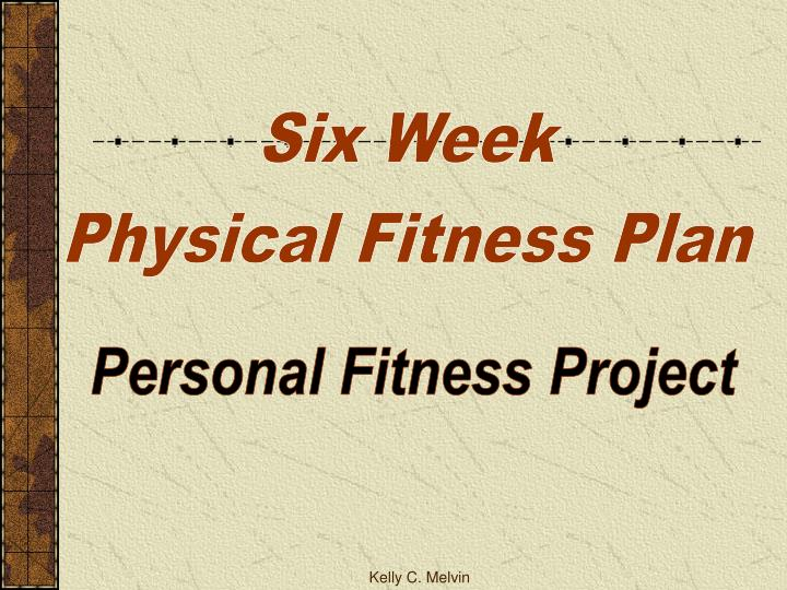 personal fitness plan project