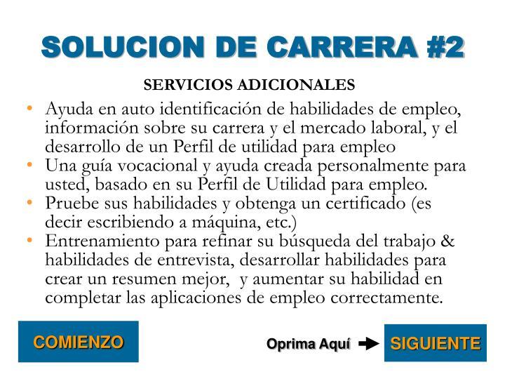 SOLUCION DE CARRERA #2