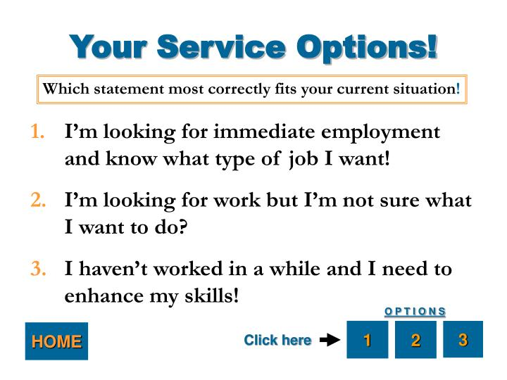 Your Service Options!