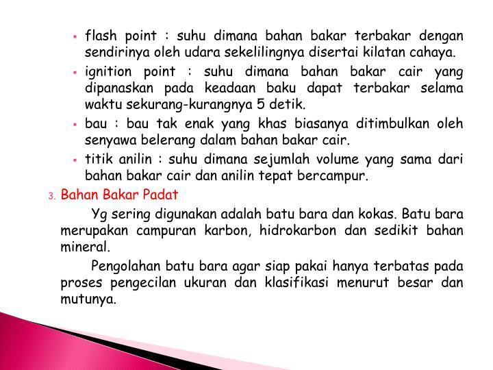 flash point :