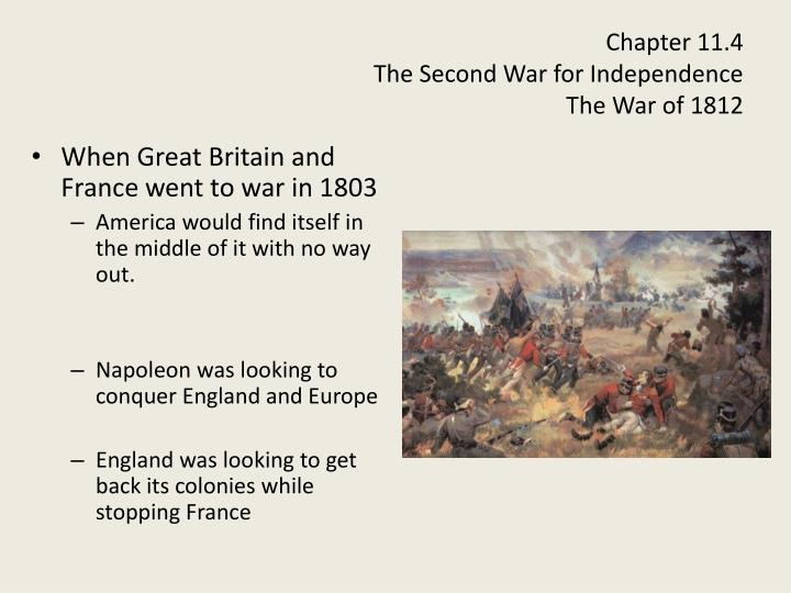 war of 1812 notes