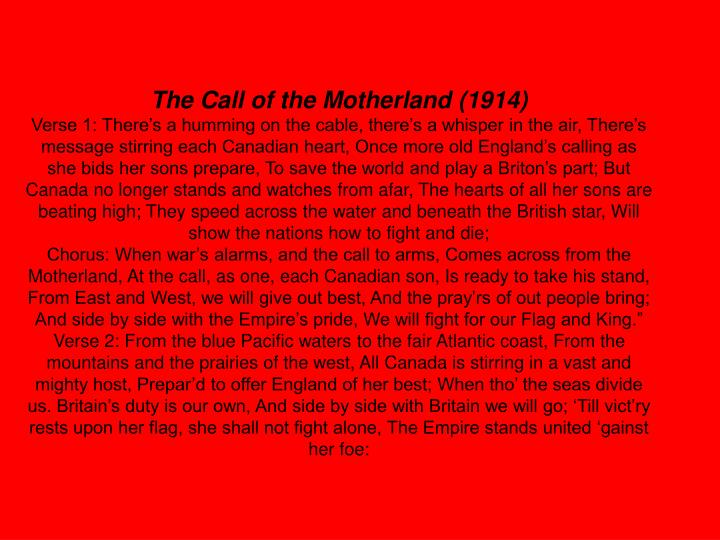 The Call of the Motherland (1914)