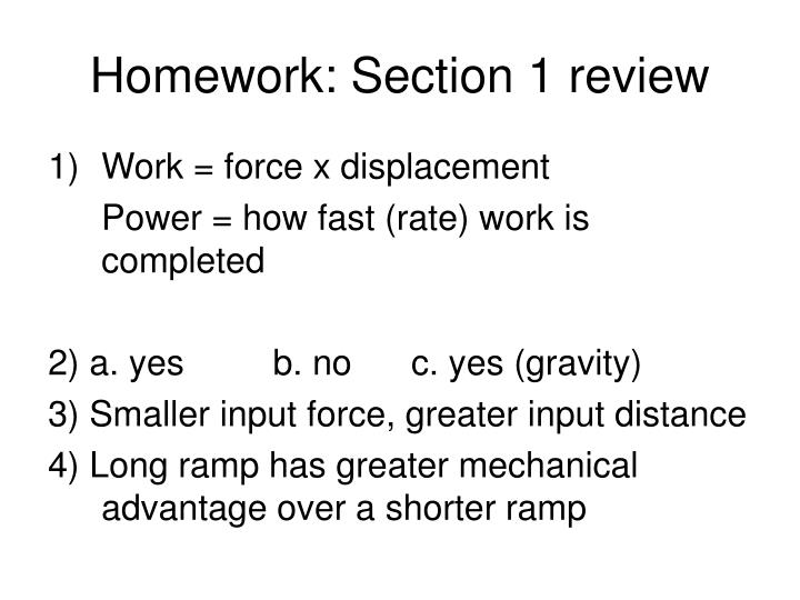 Homework: Section 1 review