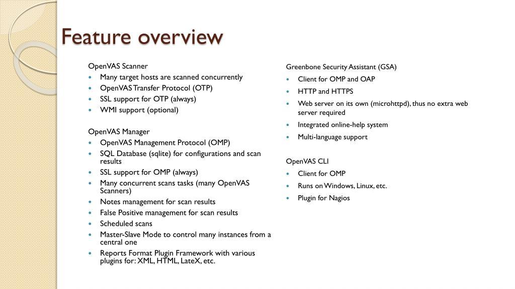 PPT - OpenVAS Vulnerability Assessment PowerPoint