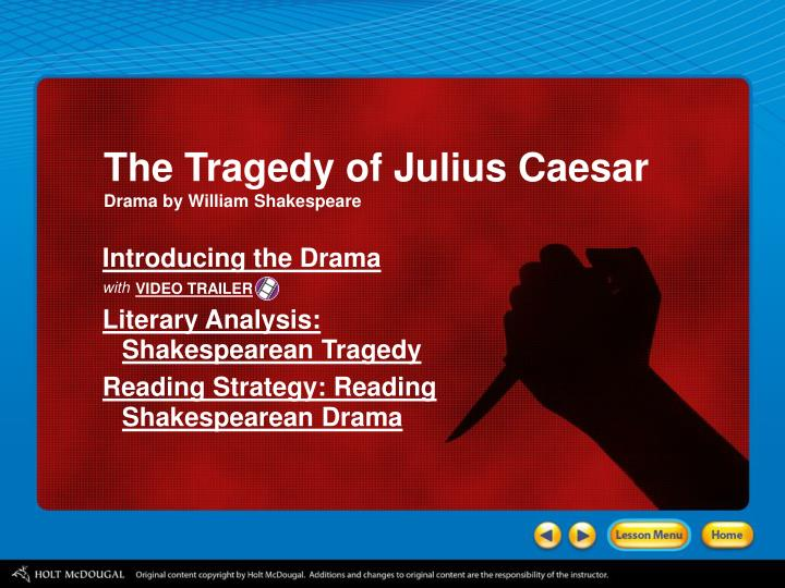 characterization of julius caesar as a tragic hero in shakespeares play