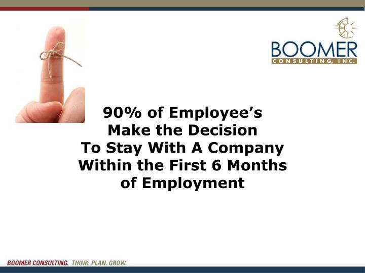 90% of Employee's