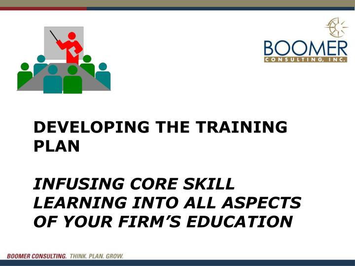Developing the training plan