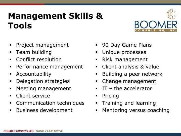 Management Skills & Tools