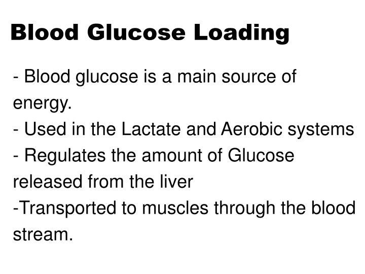 Blood Glucose Loading