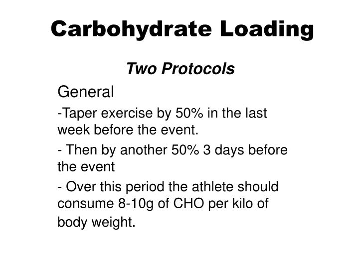 Carbohydrate Loading