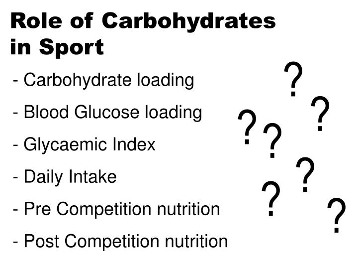 Role of Carbohydrates
