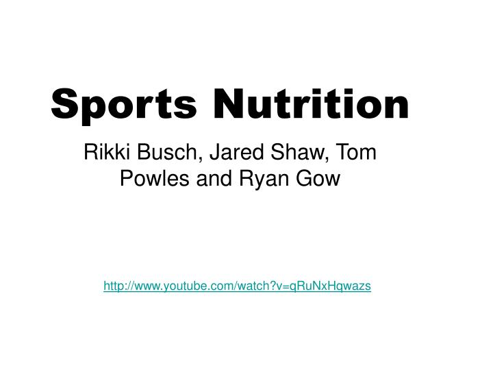 Sports nutrition1