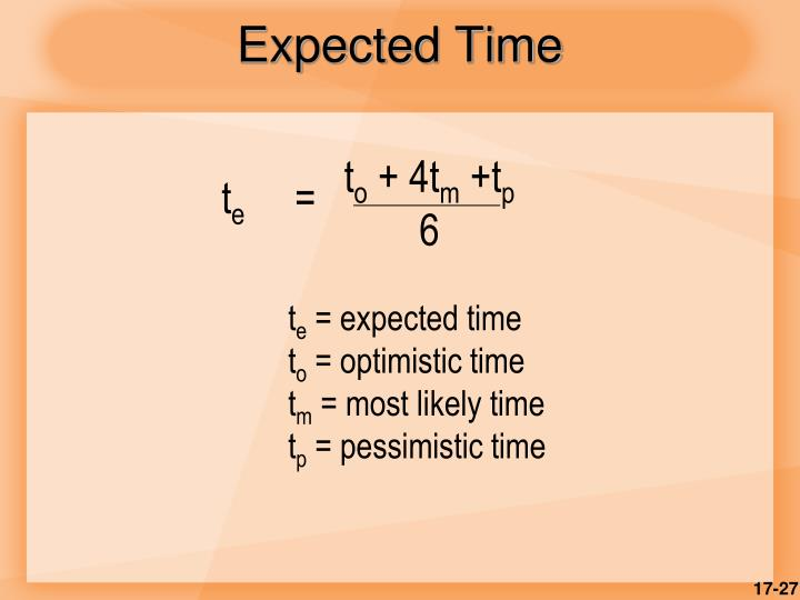 Expected Time