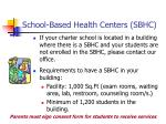 school based health centers sbhc
