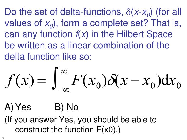Do the set of delta-functions,