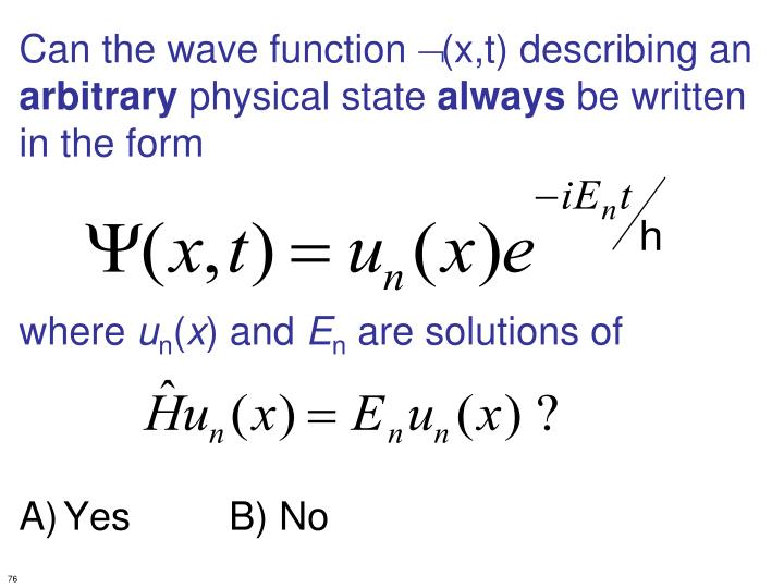 Can the wave function