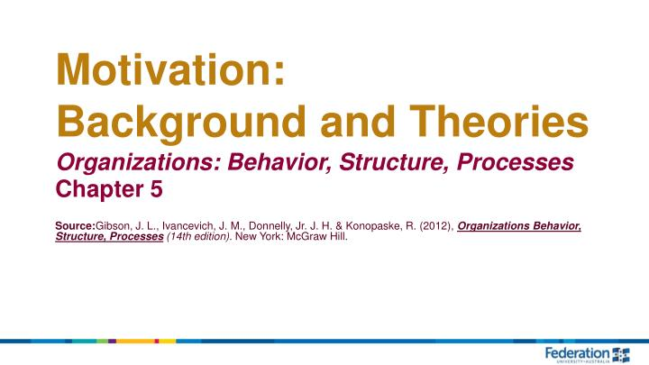 motivation background and theories n.