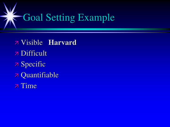 Goal Setting Example