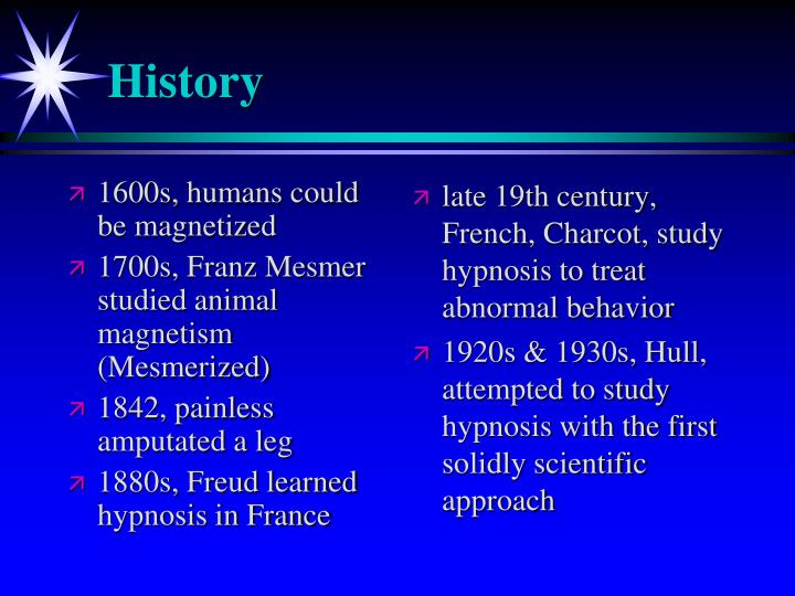 1600s, humans could be magnetized