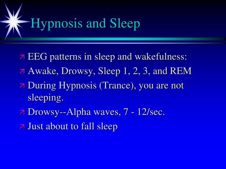 Hypnosis and Sleep