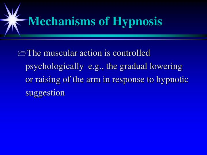 Mechanisms of Hypnosis