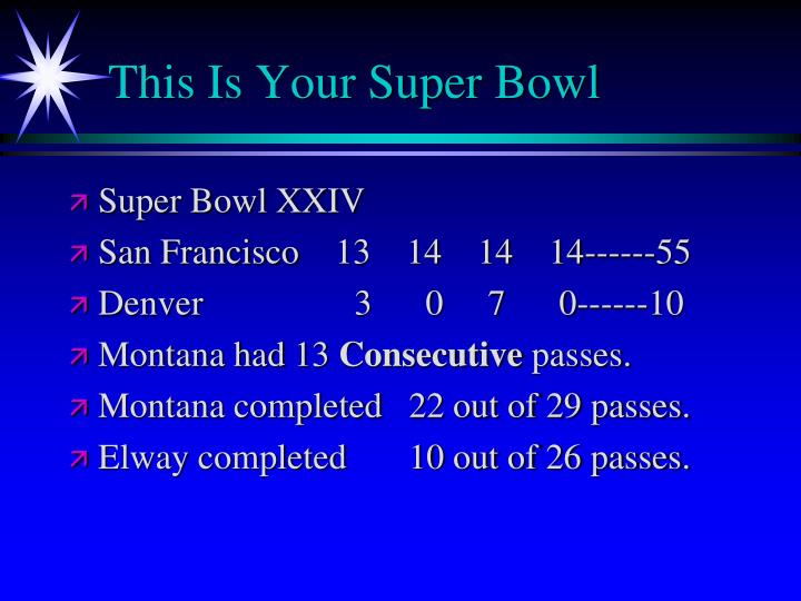 This Is Your Super Bowl