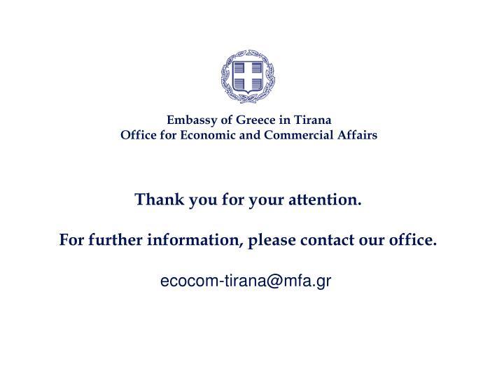 Embassy of Greece in Tirana