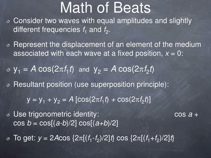 Math of Beats
