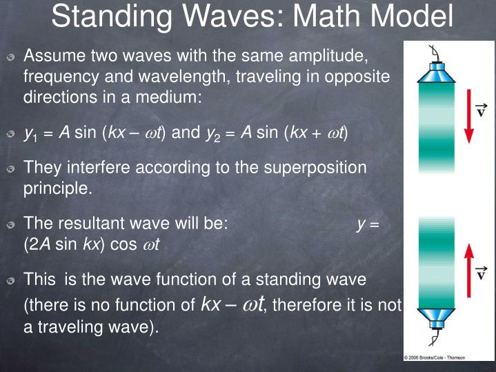 Standing Waves: Math Model