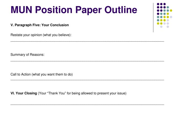 mun position paper template